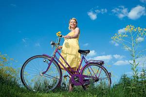Беременная на велосипеде - полезные прогулки