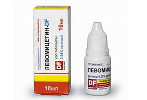Зачем нужны капли Левомицетин