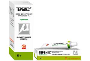 Тербикс спрей - современное противогрибковое средство