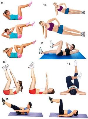 Какие упражнения помогут убрать живот